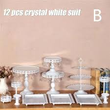 glass cupcake stand wish set of pieces gold cake wedding dome crystal candy bar decoration tools glass cupcake stand