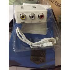 Bộ convert tín hiệu HDMI ra AV cho tivi đời cũ