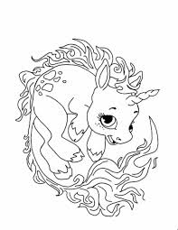 Draw Cute Unicorn Coloring Pages Fresh At Concept Animal Coloring