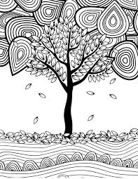 Small Picture 12 Fall Coloring Pages for Adults Tree Fall Crafts