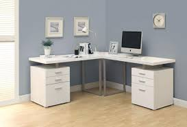 corner office computer desk.  Corner Double Pedestal Modern Computer Desk In White Finish With Corner Office L