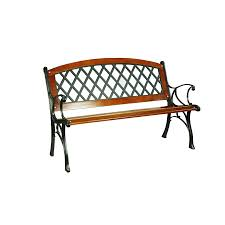 Reclaimed Wood And Iron Outdoor Bench  Benches U0026 ChairsOutdoor Benches