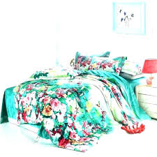 green quilt bedding green quilt cover sea red pink and white tropical flower t patterned duvet
