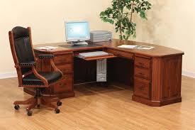 Fantastic L Shaped Computer Table Design Charm Of Solid Wood L