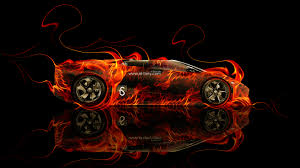 lamborghini reventon roadster fire abstract car