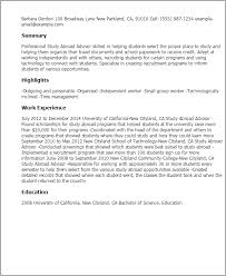 Sample Of Resume For Abroad Professional Study Abroad Advisor Templates To Showcase Your Talent