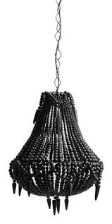black bead chandelier black beaded15