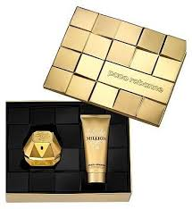 paco rabanne lady million 80ml eau de parfum 100ml body lotion gift set by paco