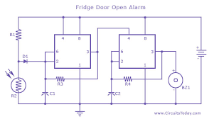 fridge door alarm fridge door alarm circuit diagram