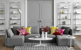 ideas for a chic gray and white living room