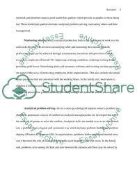 Qualities Of A Good Leader Essay Management And The Decision Making Process The Qualities Of