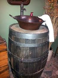 whiskey barrel sink how to make a bathroom whisky diy kit images whiskey barrel sink sinks outdoor whisky vanity
