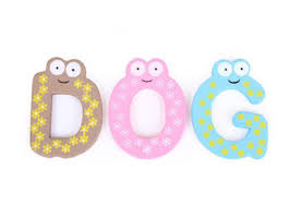 3 of 4 kid baby learning teaching wooden toy letters numbers fridge magnets alphabet