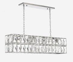 crystal nimbus linear chandelier modern contemporary 41 wide