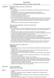 Financial Analyst / Accountant Resume Samples | Velvet Jobs