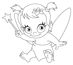 Fairy Pictures Coloring Pages Baby Fairy Coloring Pages By Awesome