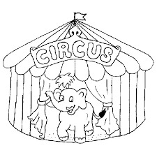 circus tent coloring pages printable clown page free playing with animal p