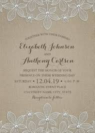 Burlap And Lace Wedding Invitations Rustic Burlap Lace Wedding Invitations Elegant Country Luxury Cards