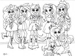 25 Vinden My Little Pony Equestria Girls Kleurplaat Mandala