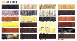 Janet Collection Color Chart Hair Color Chart Mix Color Janet Collection