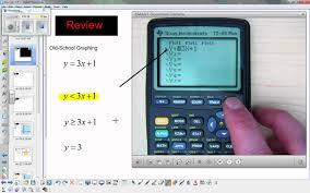 graphing inequalities ti 83