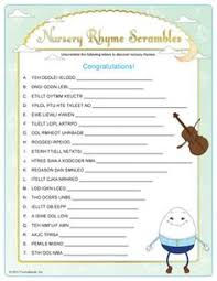 Ladybug Nursery Rhymes Quiz Baby Shower Game INSTANTBaby Shower Games Nursery Rhymes