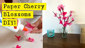 Paper Flower Branches How To Make Paper Cherry Blossoms Youtube