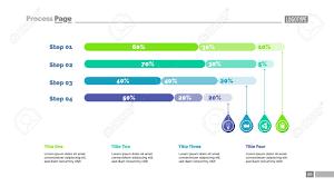 Four Steps Percentage Chart Slide Template Business Data Comparison