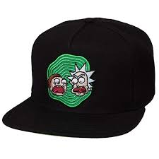 Image Unavailable Rick and Morty Adult\u0027s Black Snapback Hat at Amazon Men\u0027s Clothing