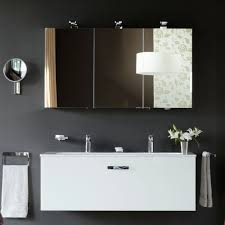 lighted bathroom mirrors home bathroom contemporary bathroom. Keuco-royal-universe-triple-mirrored-cabinet Lighted Bathroom Mirrors Home Contemporary