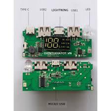 Box sạc dự phòng 8 cell 5V2A đầu sạc vào đa năng micro usb, type c,  lightning có lò xo - không pin - Pin sạc dự phòng di động Thương hiệu
