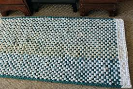 turquoise kitchen rugs and home braided rugs rag area rug square woven rug 3 foot round