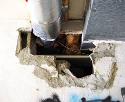 how to fix a big hole in a cement wall plaster disaster