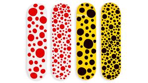 Skateboards Designs Yayoi Kusama Sells Spotty Skateboards At Moma Design Store