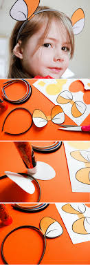 make diy tigger headband using these free printable tigger ears for your own hundred acre woods