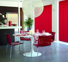 Red Vertical Blinds Kitchen