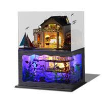 whole hawaiian gifts embling diy doll house handmade wooden miniature hawaiian villa furniture