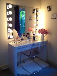 ideas for making your own vanity mirror with lights diy or regarding table designs
