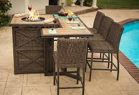 interesting fire pit bar table with franklin agio international fire pit bar table