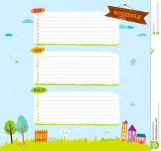 School Diary Design School Design For Notebook Diary Organizers Stock Vector