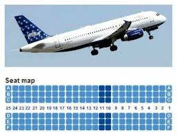 Jetblue Chart Jetblue Airways Airbus A320 Jet Aircraft Seating Layout