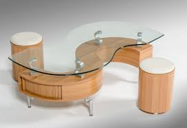 S Shaped Coffee Table C200 Modern S Shaped Coffee Table W 2 Poufs