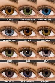 Contact Lenses Colour Chart Air Optix Colors