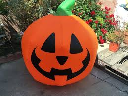 inflatable pumpkin decor lighted yard prop outdoor 3 ft pumpkins decorations