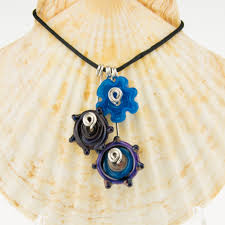 disk charm necklace