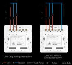 2 Wire Light Switch Diagram Smart Light Switch Socket 86 2 Gang Smart Home