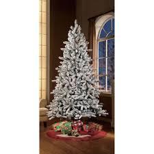Flocked Christmas Tree Holiday Time Pre Lit 75 Green Flocked Birmingham Fir Artificial