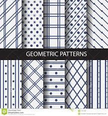 Line Pattern Design Dot And Line Seamless Patterns Stock Vector Illustration