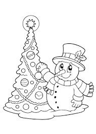 Sneeuwpop Kleurplaat Van Kerst