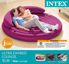 intex inflatable lounge chair. Intex Ultra Daybed Indoor Outdoor Inflatable Air Lounge Bed Airbed Chair 68881EP H